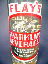vintage ACL Soda Bottle: full FLAY'S G. ALE of E. PALESTINE, OH - 16 oz  ACL POP