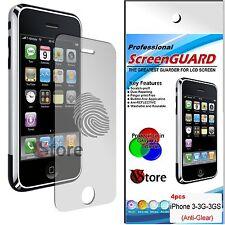 4 Pellicole Opaca Per Apple iPhone 3/3G/3GS Antiriflesso Antimpronta Pellicola