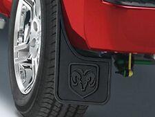 New OEM 10-13 Dodge Ram 1500 2500 3500 Rear Splash Guards Mud Flaps w/ Flares
