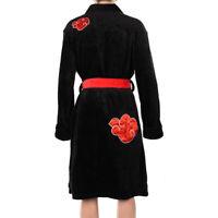 Naruto0 Akatsuki Uchiha Itachi Cosplay Bathrobe Flannel Pajamas Sleepwear Robes