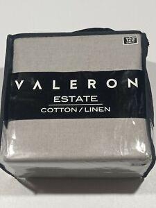"Valeron Estate Cotton Linen 95"" Window Curtain Panel - Gray - GallyHo"