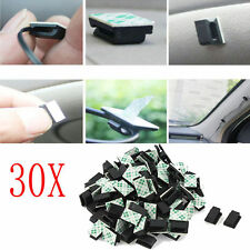 30 X Car Wire Cord Clip Cable Holder Tie Fixer Organizer Drop Adhesive Clamp New