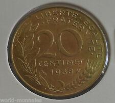 20 centimes marianne 1988 : SPL : pièce de monnaie française
