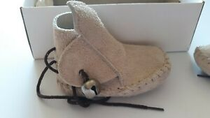 Vintage Leather Baby Moccasins Size 2 Very Good Condition Bells Chaparral Shoes
