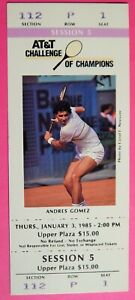 ATT&T TENNIS CHALLENGE OF CHAMPIONS ORIGINAL USED TICKET JAN 3 1985 LAS VEGAS
