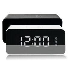 LED despertador digital alarma despertador reloj schlummerfunktion Modern negro blanco Touch