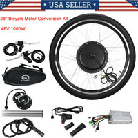 "48V 26""Front Wheel Electric Bicycle Motor Conversion Kit 1000W EBike Cycling Hub"