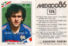 """RARE !! Vignette n°175 Michel PLATINI """"WC MEXICO 86"""" Panini"""