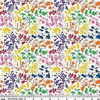 Art Box Splatterwhite by Crayola for Riley Blake 1/2 Yard Cotton Quilt Fabric