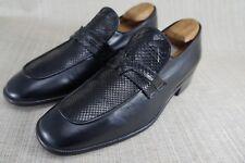New Men's Davids Hand Made Italy Black Loafer Genuine Python Snake Skin sz 7.5 D