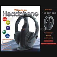 5 in 1 Hi-Fi Wireless Headphones Earphone FM Radio Headset for PC Laptop TV MP3