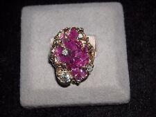 441 14k Y G  geode ruby diamond ring 5 ct ruby .65 ct diamond H VS 2 SI 1 size 8