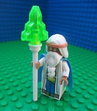 Lego Movie VITRUVIUS Minifig Minifigure Morgan Freeman Cape Staff Wizard 70809