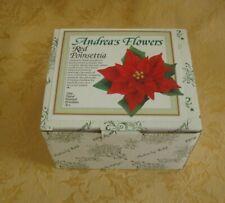 "Andrea by Sadek Porcelain Flower Figurine ""Red Poinsettia"" In Box"
