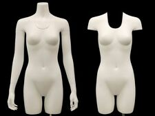 Female Invisible Ghost Mannequin 3/4 Body - Matte White