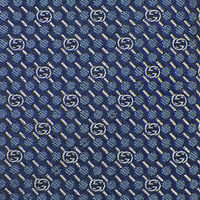 GUCCI Mens Navy Blue White GG LOGO DOTS Woven Silk SKINNY Tie Italy NWT