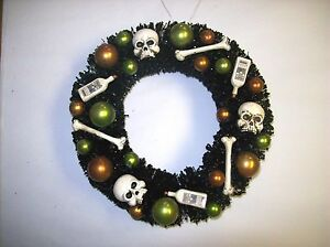 "Bethany Lowe ""Halloween Bottles & Bones Wreath"" (8"" Decorative Wreath) (SN5820)"