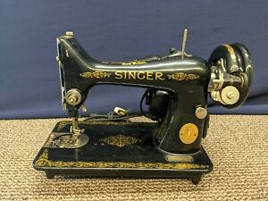 1949 Singer Electric Sewing Machine 99K Vintage For Parts Only Repair Light