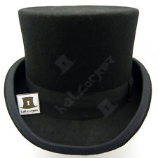 CLASSIC Wool Felt Men Top Hat Gentlemen Tuxedo Topper Victorian | 61cm | Black