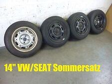 (2974)  KOMPLETTSATZ 6jx14 ET38 & 175/65 R14 Sommer VW Golf, Polo, SEAT 4/100