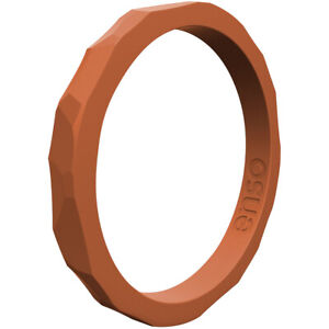 Enso Rings Hammered Stackables Series Silicone Ring