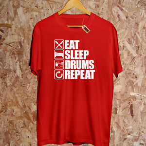 Eat Sleep Schlagzeug Repeat T-Shirt Rock 'n' Rolle Musiker Band Kapuzenpulli
