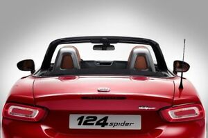 Fiat 124 Spider Seat Back Pillar Bar Trim Kit Silver New Genuine 71807716