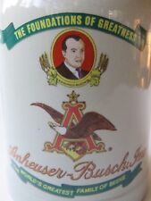 Beer Glass Mug #3 of 5 Steins ~*~ 1989 Anheuser-Busch Budweiser ~*~ Wwii & 1942