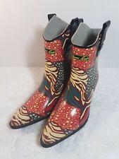 Thomas Cook Slip On Rubber Gumboot Multi Color Boots Womens 7