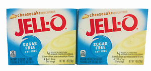 Jello Sugar Free Cheesecake Instant Pudding 1 oz (2 boxes)