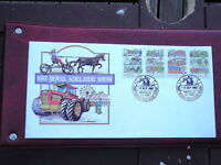 1987 ROYAL ADELAIDE SHOW COVER WITH SET OF 4 SHOW STAMPS $10