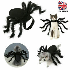 More details for pet black spider costume dog cat big spider costume clothes for halloween party