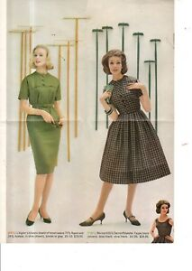 1960 John Wanamaker L'Aiglon Dresses