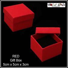 12 Boîtes Bijoux boucle d'oreille rouge anneau carré boîtes cadeau