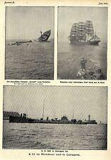Aufnahmen von SM U35 im Mittelmeer und in Cartagena 1916 *  WW1