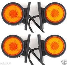 4x 24V LED SIDE REAR AMBER MARKER LIGHTS TRUCK TRAILER for DAF SCANIA MAN IVECO