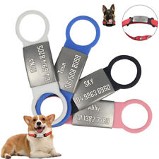Personalised Cat Dog ID Tag Anti-lost Samll Large Dog Name Collar Free Engraving