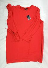 Project Runway Women's Red Lollipop Ruffle Long Sleeve Dress, Plus Size 3X