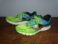 Mens Saucony Kinvara 6 Neon green/blue running shoes size 12