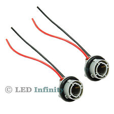 A Pair 1156 7527 P21W Car Signal Tail Light Socket Wiring Harness Connector