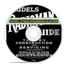 Audel's New Radioman's Guide, Tube Radio Servicing, OTR, Rider PDF CD DVD E29