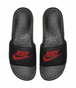 NWT Nike Benassi JDI Black red Men's Slides slide 9 10 11 12 - 15 flip flop 060