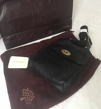 MULBERRY Antony small grained leather messenger, Black. New