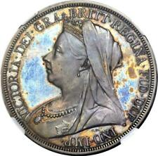 Great Britain 1893 'Veiled Head' Proof Crown NGC PF-64 - Gem of a coin!