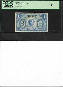 Military Payment Certificate Series 541 $1 Very Fine 30