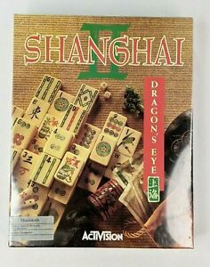 "Shanghai II Dragons Eye Video Game Mac BIG BOX  3.5"" Disk 1991 Macintosh NOS NEW"