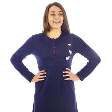 Camicia da notte donna  invernale in caldo cotone interlock felpata  7DICAM026