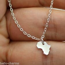AFRICA NECKLACE - 925 Sterling Silver - African Safari Charm Pendant Jewelry NEW