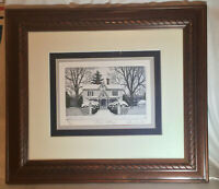 """JOHN FURCHES Signed Numbered 70/200 Limited Edition """"Snow Cottage"""" Beautiful"""