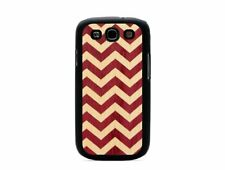 CARVED Matte Black Wood Inlay Case for Samsung Galaxy S3 - Chevron